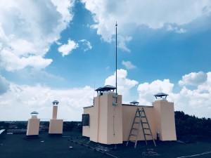 Монтаж на мълниезащита с мълниеприемник INGESCO PDC AIR на сграда в гр. Генерал Тошево