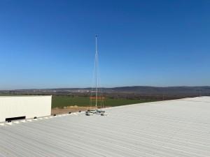 Мълниезащита на индустриална сграда с мълниеприеници IONIFLASH MACH NG 45