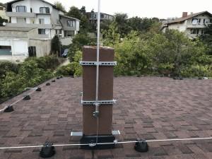 Мълниезащита на жилищна сграда: Конвенционална мълниезащита, изградена от ''Диком'' ООД