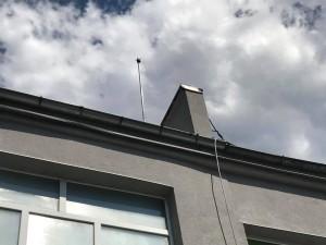 Мълниезащита Русе: Монтаж на мълниезащитна инсталация на производствена сграда с активен мълниеприемник IONIFLASH MACH NG 45 в гр. Русе