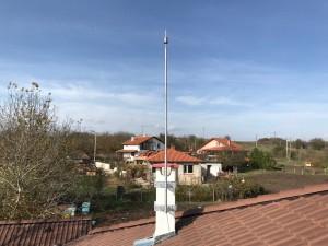 Мълниезащита Бургас: Мълниезащита с мълниепреимник с изпреварващо действие на фамилна жилищна сграда