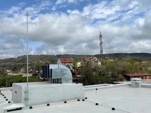 Нова сграда с ефективна мълниезащита, изградена от Диком ООД - Мълниеприемник с изпреварващо действие AIDITEC SIGMA 45 ms
