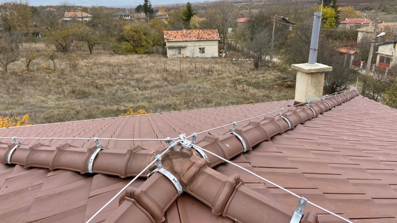Мълниезащита от конвенционален тип на жилищна сграда в Област Варна