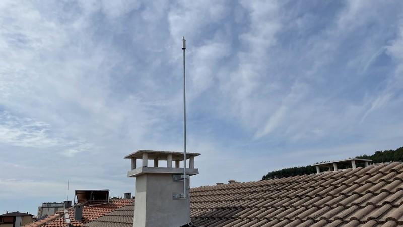 Мълниезащита в гр. Варна с мълниеприемник с изпреварващо действие AIDITEC ELECTRON 15 ms