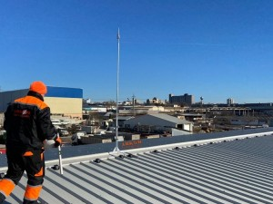 Мълниезащита в гр. Добрич- Мълниезащитна система на производствена сграда за млечни продукти