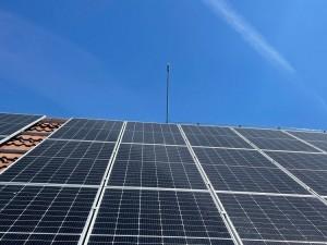 Мълниезащита Русе - Мълниезащита на соларни панели с мълниеприемник с изпреварващо действие AIDITEC ELECTRON 15 ms