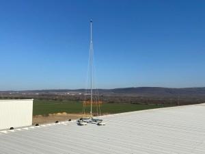 Мълниезащита на индустриална сграда с френски мълниеприеници 45 ms